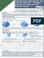 Impacto da radioterapia adjuvante em carcinossarcoma uterino – análise retrospetiva de um Serviço de Radioterapia