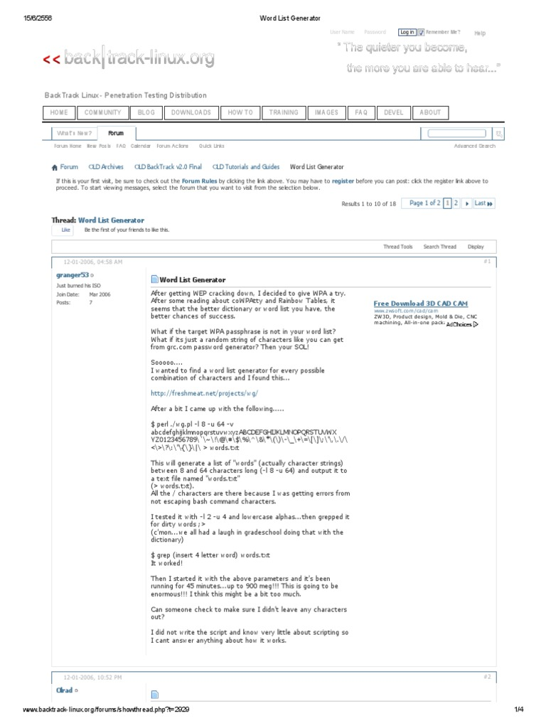 Backtrack Linux - Penetration Testing Distribution: Word