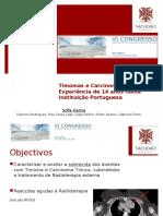 Timomas e Carcinomas Tímicos – Experiência de 14 anos numa Instituição Portuguesa