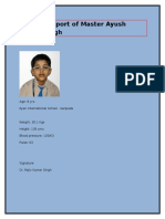 Medical Report of Master Ayush Kumar Singh