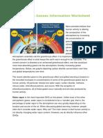 green house gasses information worksheet