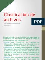 Clasificacion de Archivos