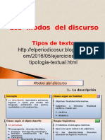 Tipos de Textos. COMUNICACIÓN Y REDACCION