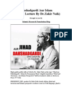Dahshadgardi Aur Islam (Urdu Lecture by Dr.zakir Naik)