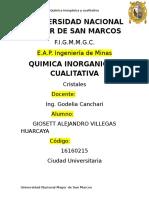 1er Informe de Inorganica Cristales Sandro