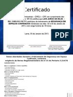 Certificado Nr33 - Newjet Luis Juraci Da Silva