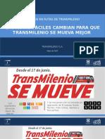 NUEVOS RUTA FACIL TRANSMILENIO 2017 CAMBIOS