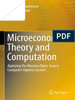 Microeconomic Theory and Computation Mith Maxima [Michael R. Hammock, J. Wilson Mixon]