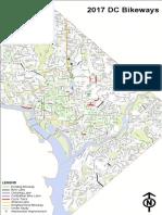 2017 DC Bikeways Map