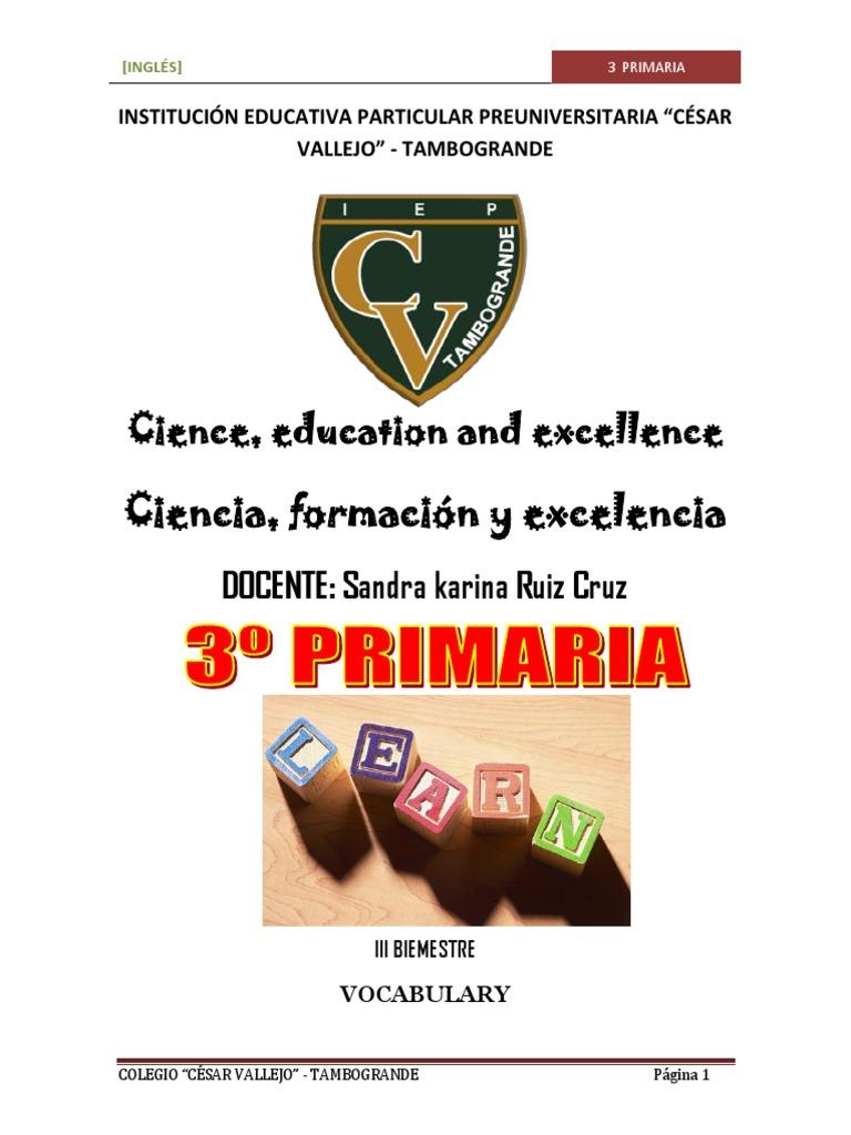 3ro Módulo Primaria 3ro Primaria Anual Anual 3ro Módulo Inglés Anual Módulo Inglés Inglés MVpqSUGz
