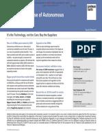 Monetizing the Rise of Autonomous Vehicles (Goldman Sachs)