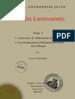 """(Tome 1 ) """"De Moïse à Mohammed, l'islam entreprise juive"""" par le père Gabriel Théry (Hanna Zakarias)"""