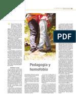 Pedagogia y Homofobia