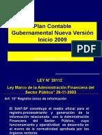 002. Plan Contable Gubernamental 2009