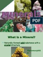 Geografia PPT - English - Minerals 01