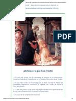 El Camino de Maria . Edicion 1108 - LA VISITACION DE MARIA SANTISIMA A SU PRIMA ISABEL