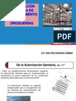 Ponencia - Autoriza Sanit Droguerias