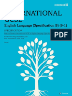 International GCSE English Language B (9-1) Specification