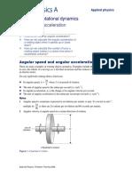 AQA A-Level Applied Physics Chapter 1 Rotational Dynamics