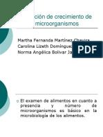 Medición de Crecimiento de Microorganismos