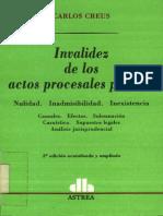 Creus, Carlos - Invalidez de Los Actos Procesales Penales
