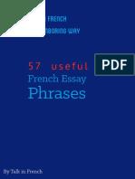 5759 French Essay Phrases