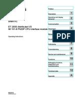 Et200s Im151 8 Pn Dp Cpu Operating Instructions en-US en-US