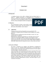 report of telephone directory project