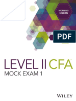 Level II CFA Mock Exam 1 Morning