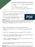Matriz de Varianzas-covarianzas