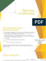 Algoritmos Condicionales