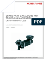9d. Spare Part Catalogue for Traveling Machinery