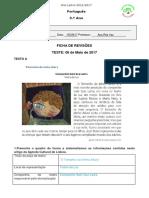 Ficha de REVISÕES 5.ºano 04 Maio 2017 Correção
