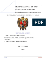 VOCABULARIO MINERO
