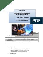 Informe de Soldadura FCAW