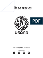 PriceList MX USANA