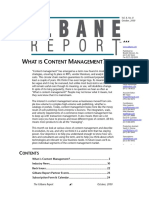 Gilbane Report October 2000, What is Content Management?