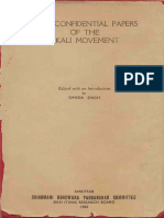 Some Confidential Papers of the Akali Movement - Dr. Ganda Singh (Ed.)