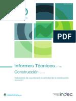 Indicador Sintético de la Actividad de la Construcción (ISAC) Abril 2017