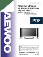 DAEWOO SP115 CHASSIS DP42SM PLASMA TV SM.pdf