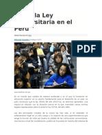 Sobre La Ley Universitaria en El Perú