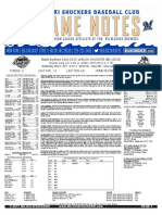 5.31.17 vs. MOB Game Notes