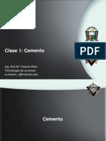 Clase 2 El Cemento