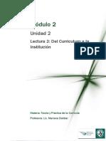 Lectura 2 - Del Curriculum a la Instutución.pdf