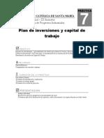 Guia7 Plan de Inversiones y Capital de Trabajo