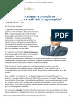 ConJur - Entrevista_ Frederico Favacho, Advogado de Agronegócio