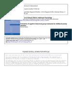 Barrett 1998 Evaluation of Cognitive Behavioural Group Treatment_JClinicalChildPsychology