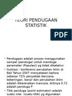 3 Teori Pendugaan Statistik