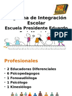 Programa de Integración Escolar 2017