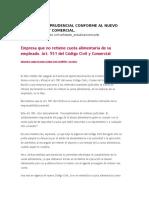 Síntesis Jurisprudencial Conforme Al Nuevo Código Civil y Comercial
